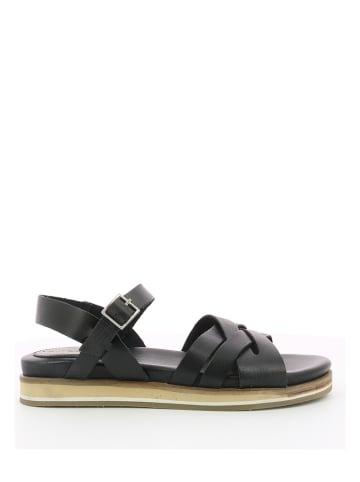 "Kickers Leren sandalen ""Olimpik"" zwart"