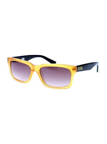 Karl Lagerfeld Damen-Sonnenbrille in Gelb-Schwarz/ Lila