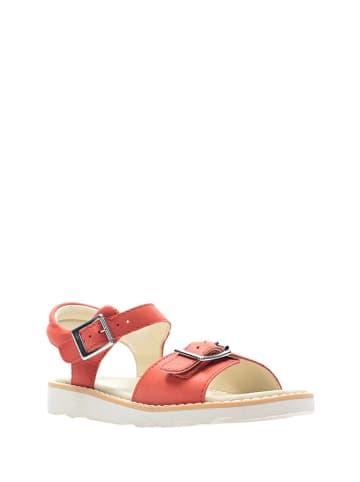 Clarks Skórzane sandały w kolorze czerwonym