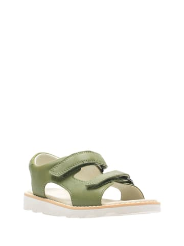 Clarks Skórzane sandały w kolorze zielonym