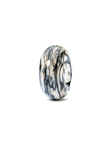 Trollbeads Charms w kolorze biało-szarym