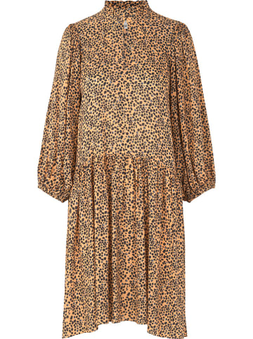 """SECOND FEMALE Sukienka """"Eli"""" w kolorze pomarańczowo-oliwkowym"""