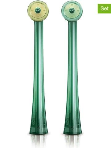 """Philips 2-delige set: opzetluchtborstels """"Airfloss"""" groen"""