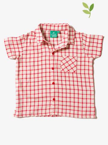 Little Green Radicals Koszula w kolorze czerwono-białym