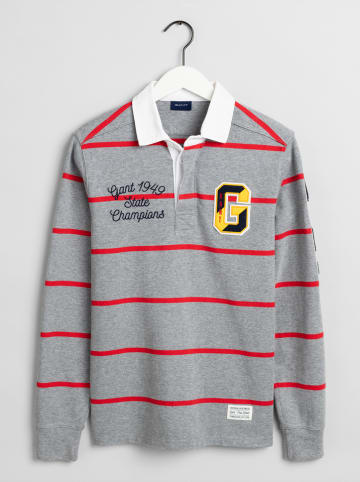 Gant Poloshirt grijs/rood