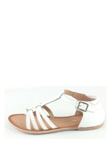 "Manoukian shoes Leren sandalen ""Kailly"" wit"