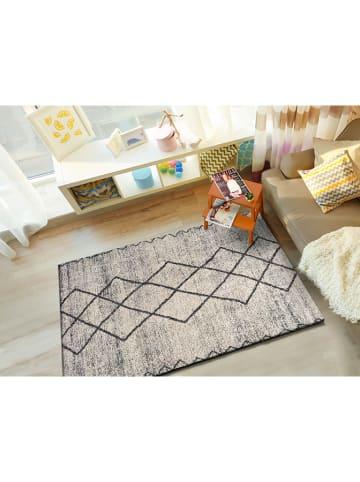 Atticgo Hoogpolig tapijt grijs/meerkleurig