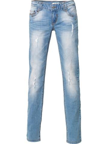 Million X Dżinsy - Skinny fit - w kolorze błękitnym