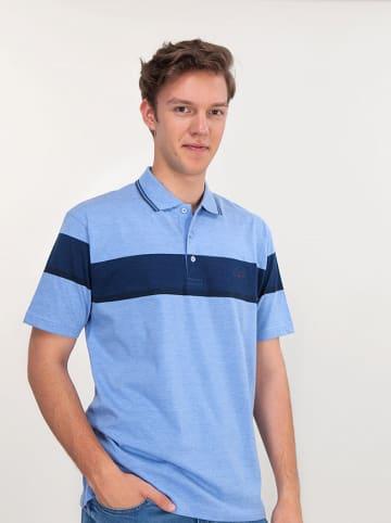 Lee Cooper Koszulka polo w kolorze błękitno-granatowym