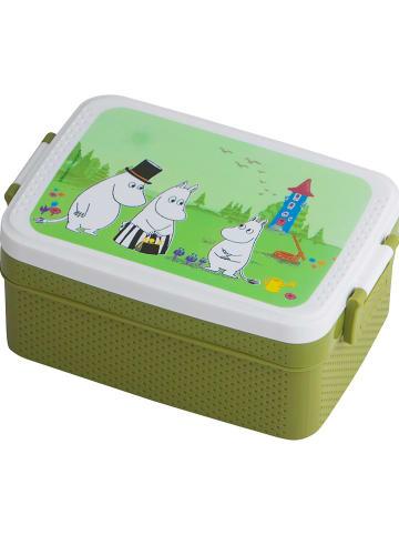 """Rätt Start Pojemnik """"Moomin"""" w kolorze zielonym na lunch - 18,5 x 8 x 12 cm"""