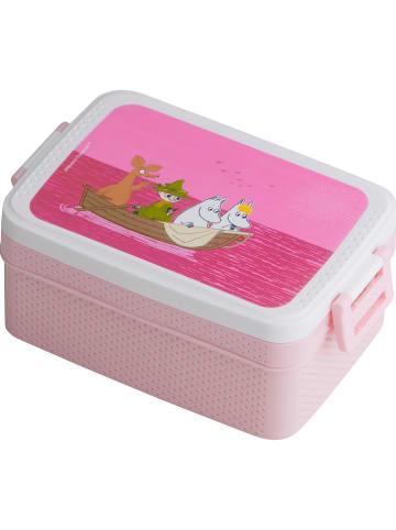 """Rätt Start Pojemnik """"Moomin"""" w kolorze jasnoróżowym na lunch - 18,5 x 8 x 12 cm"""