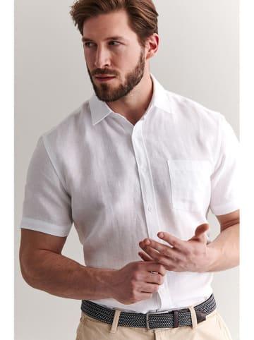 TATUUM Lniana koszula w kolorze białym