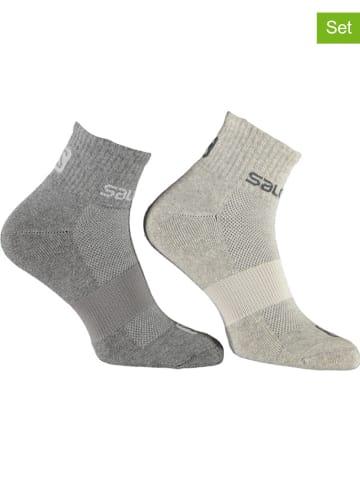 "SALOMON 2er-Set: Socken ""Evasion"" in Grau"