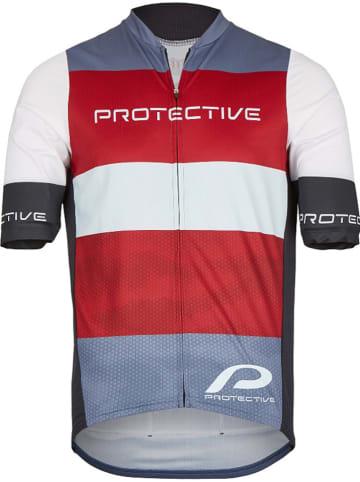 """Protective Fietsshirt """"Matthew II"""" rood/wit/grijs"""