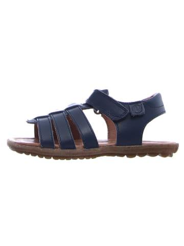 Naturino Skórzane sandały w kolorze granatowym