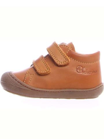 """Naturino Skórzane sneakersy """"Cocoon"""" w kolorze musztardowym"""