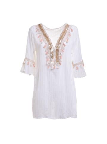 Boho Style Tunika w kolorze białym