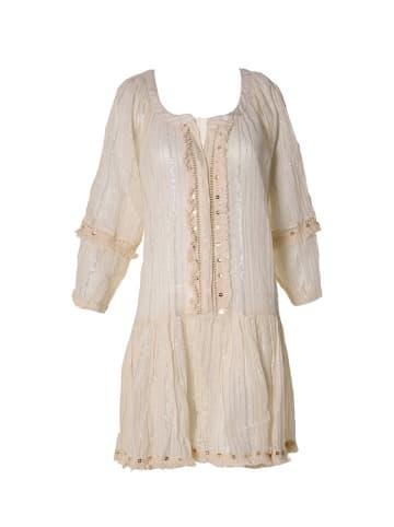 Boho Style Sukienka w kolorze beżowo-srebrnym