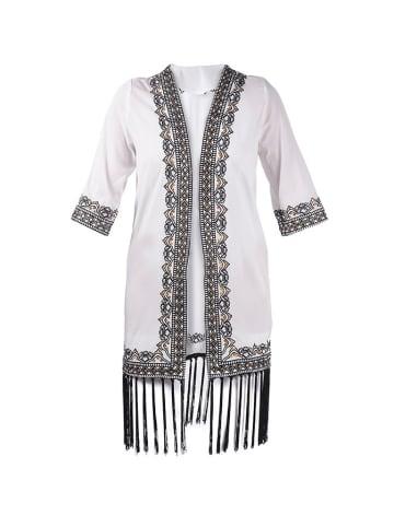 Boho Style Kimono w kolorze biało-czarnym