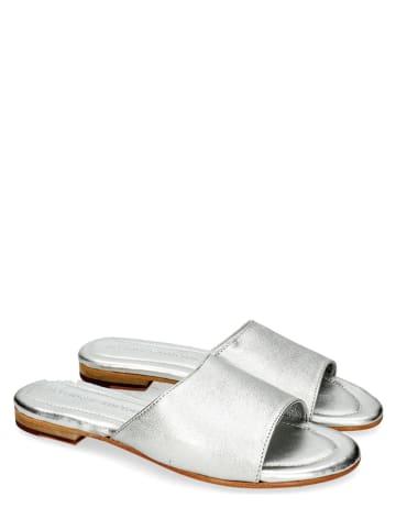 "MELVIN & HAMILTON Leren slippers ""Hanna 5"" zilverkleurig"