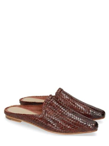 """MELVIN & HAMILTON Leren slippers """"Joolie 17"""" in Dunkellbraun"""