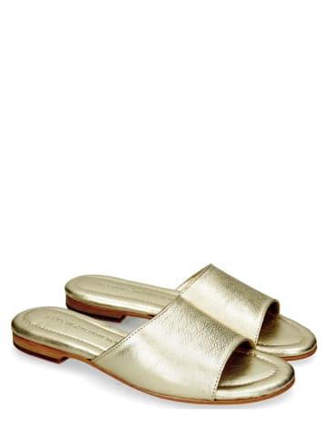 """MELVIN & HAMILTON Leren slippers """"Hanna 5"""" platinakleurig"""