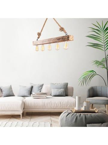 """ABERTO DESIGN Lampa wisząca """"Erebos"""" w kolorze jasnobrązowym - 100 x 7 cm"""