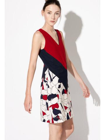"Indies Kleid ""Dinard"" in Rot/ Creme/ Dunkelblau"