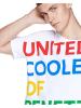 Benetton Koszulka w kolorze białym ze wzorem