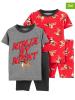 2er-Set: Pyjamas in Rot/ Grau
