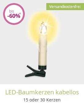 LED-Baumkerzen kabellos