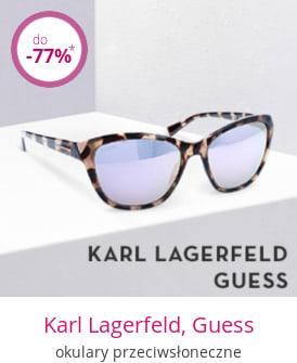 Karl Lagerfeld, Guess - okulary przeciwsłoneczne