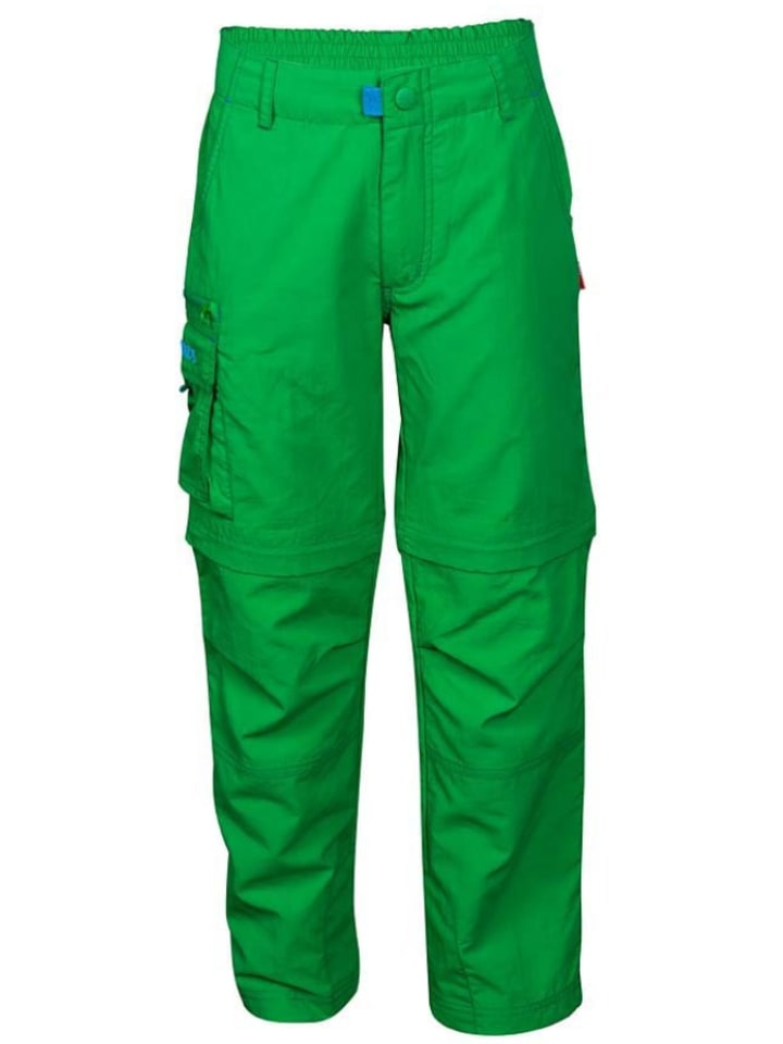 """Trollkids Spodnie trekkingowe """"Oppland"""" w kolorze zielonym"""