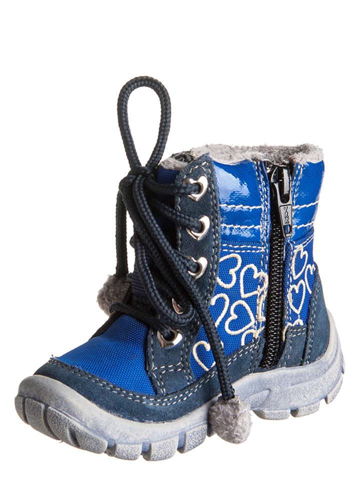 Pio Laarzen blauw/donkerblauw