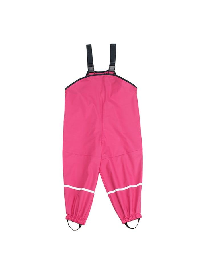 Playshoes Spodnie przeciwdeszczowe w kolorze różowym