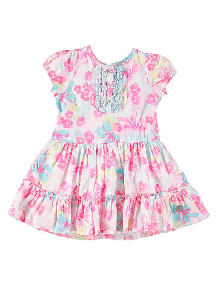 Pampolina Kleid in Pink/ Weiß