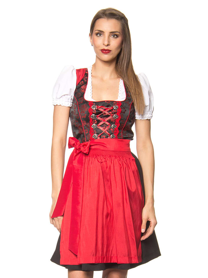 lekra mini dirndl odette in schwarz rot limango outlet. Black Bedroom Furniture Sets. Home Design Ideas