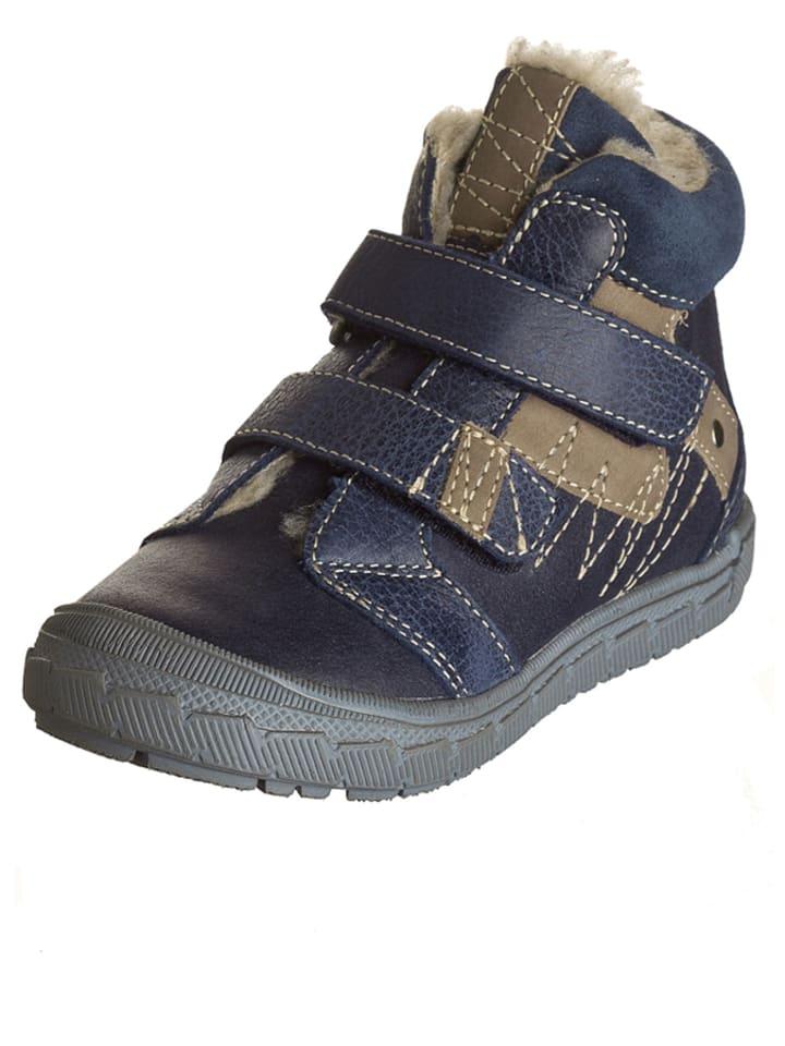 """Minibel Skórzane sneakersy """"Joshualim"""" w kolorze granatowo-beżowym"""