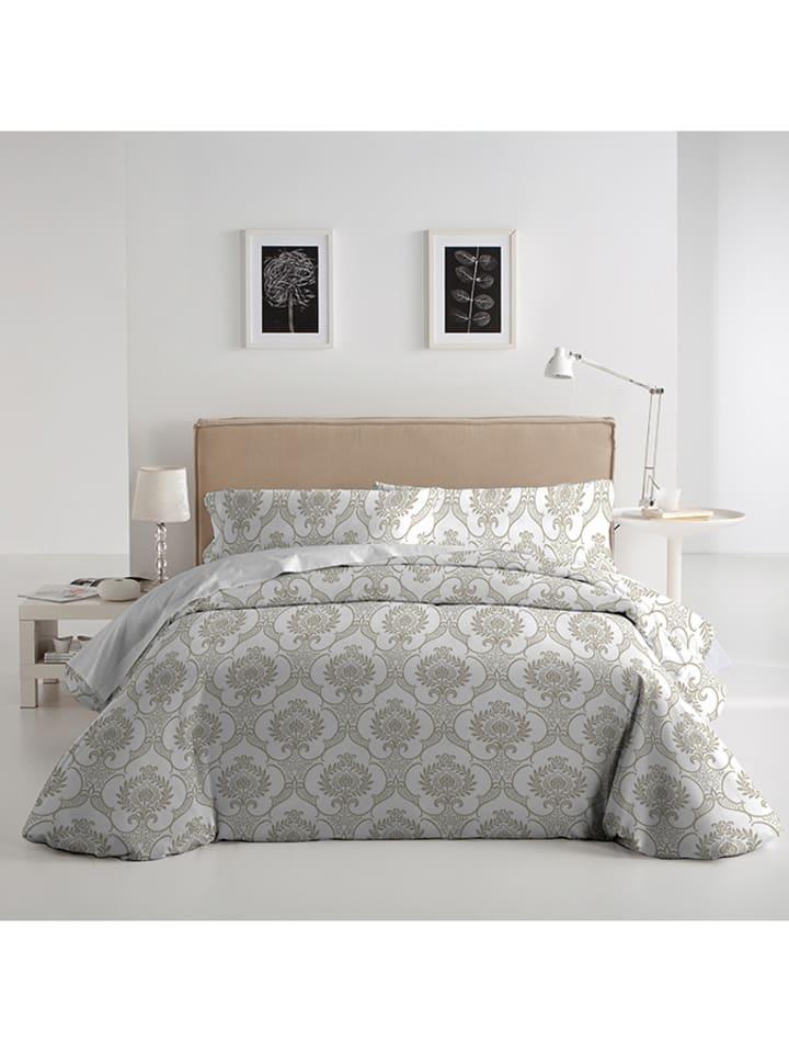 el caballo bettw sche set in wei grau limango outlet. Black Bedroom Furniture Sets. Home Design Ideas