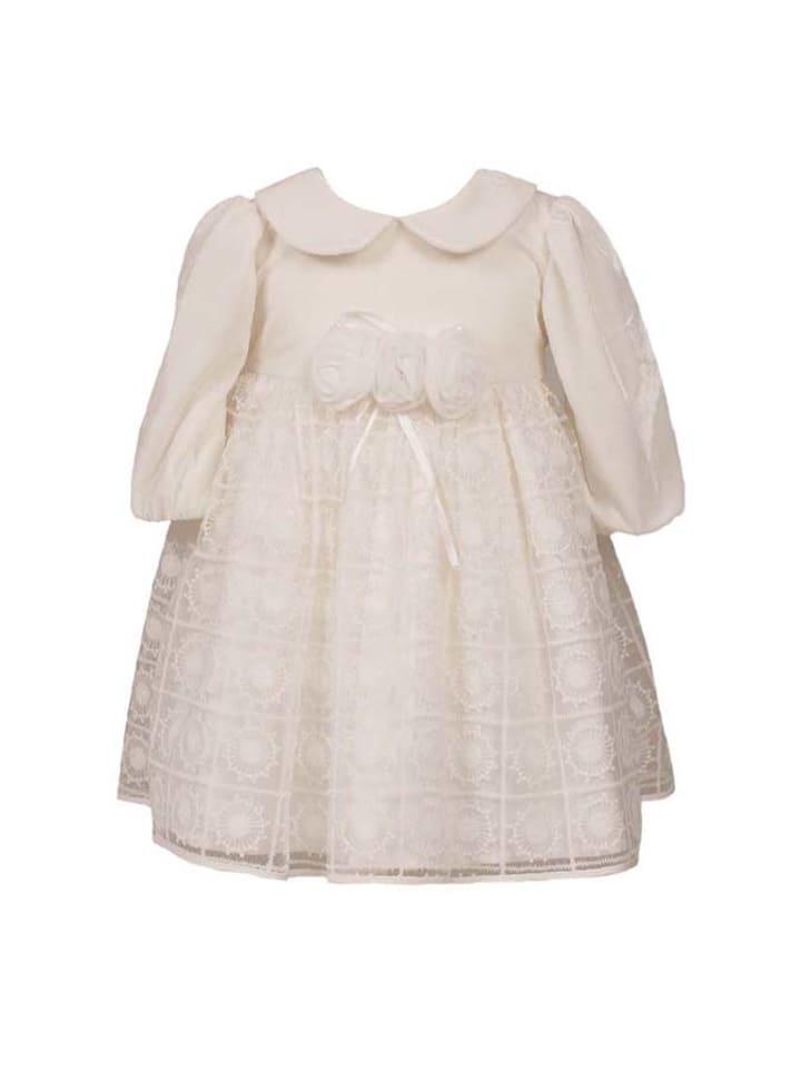 "Heritage Seiden-Kleid ""Rose"" in Creme"