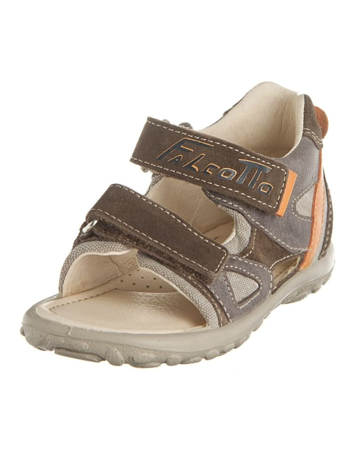 Naturino Sandalen in Braun/ Orange