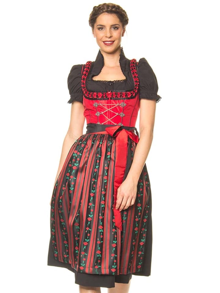 lekra midi dirndl bergsee in schwarz rot limango outlet. Black Bedroom Furniture Sets. Home Design Ideas