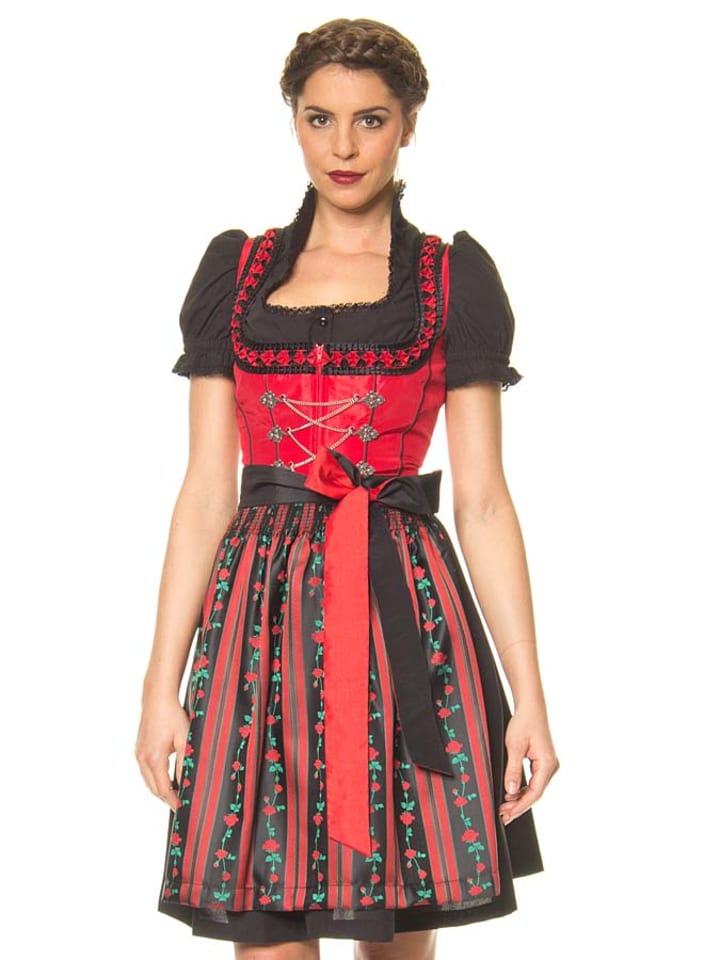 lekra mini dirndl bergsee in rot schwarz limango outlet. Black Bedroom Furniture Sets. Home Design Ideas