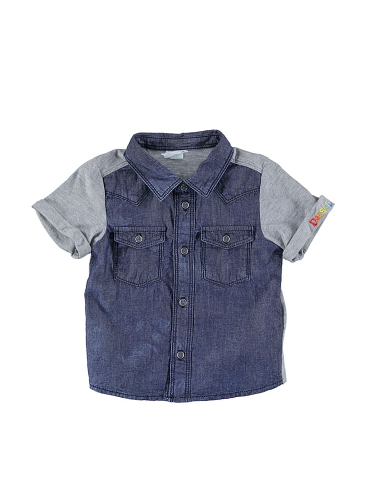 Diesel Kid Blouse blauw/grijs