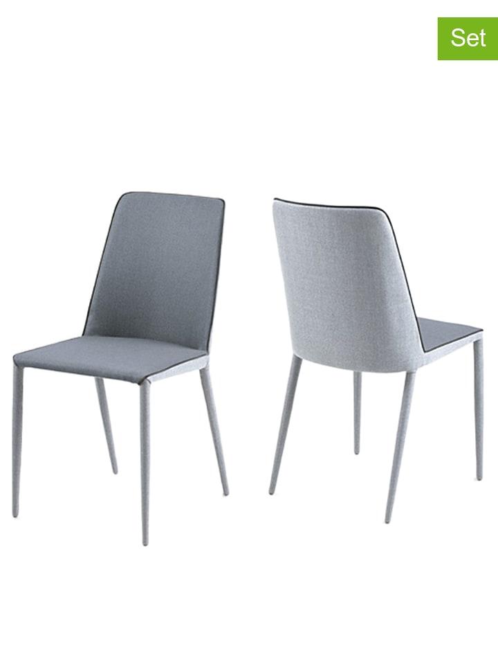 Ac design 2er set esszimmerst hle avanja in grau hellgrau b 47 x h 87 x t 57 cm - Esszimmerstuhle hellgrau ...
