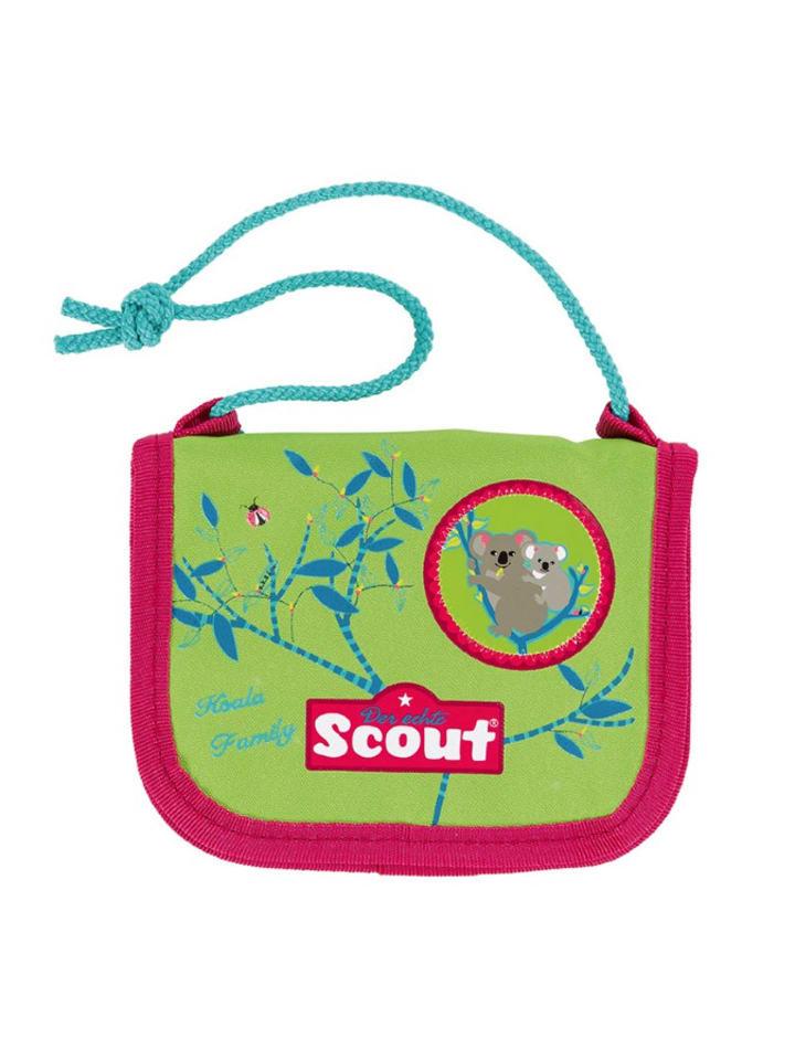"Scout Brustbeutel ""Koala Family"" in Grün/ Pink - (B)12,5 x (H)10 cm"