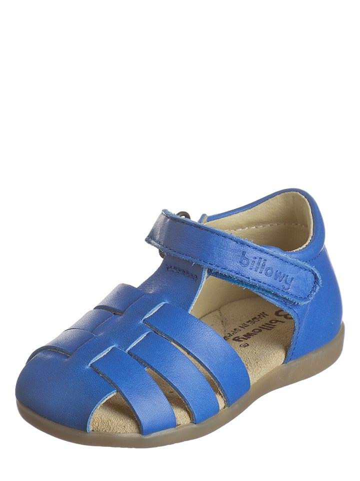 Billowy Leder-Halbsandalen in Blau