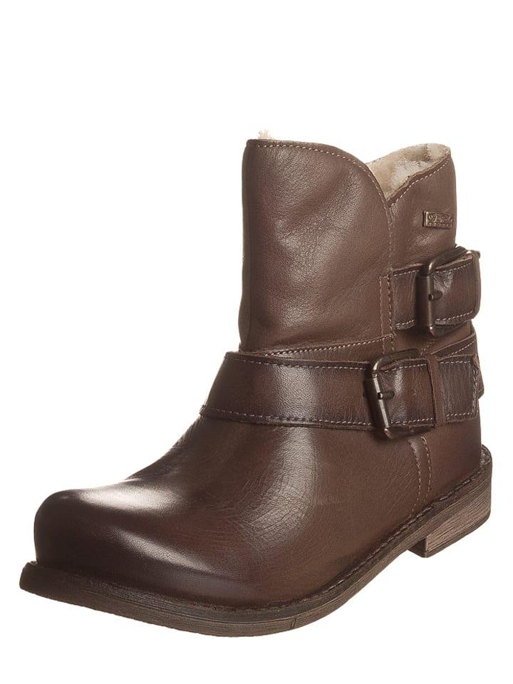 buffalo leder boots in braun limango outlet. Black Bedroom Furniture Sets. Home Design Ideas