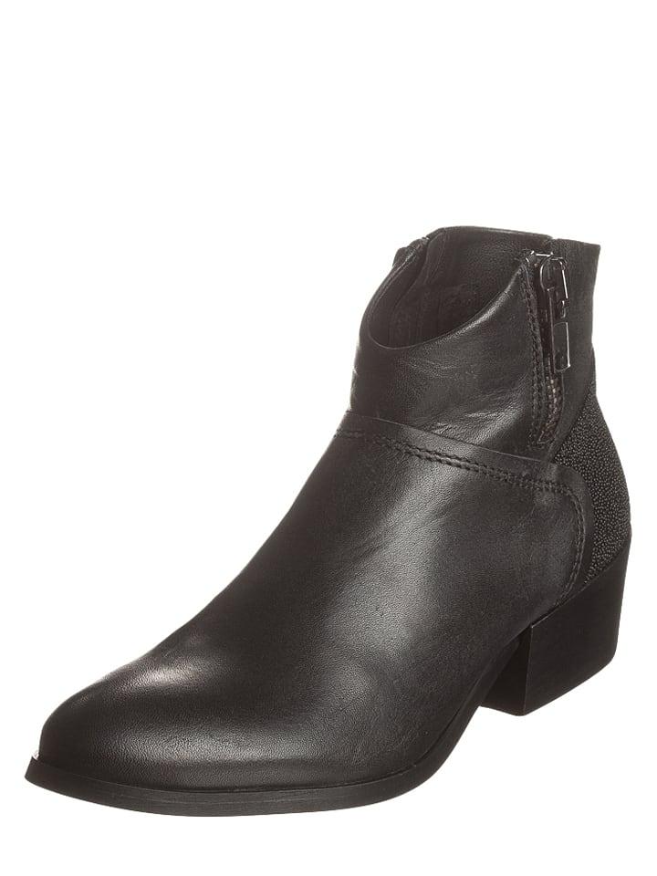 buffalo leder ankle boots in schwarz limango outlet. Black Bedroom Furniture Sets. Home Design Ideas