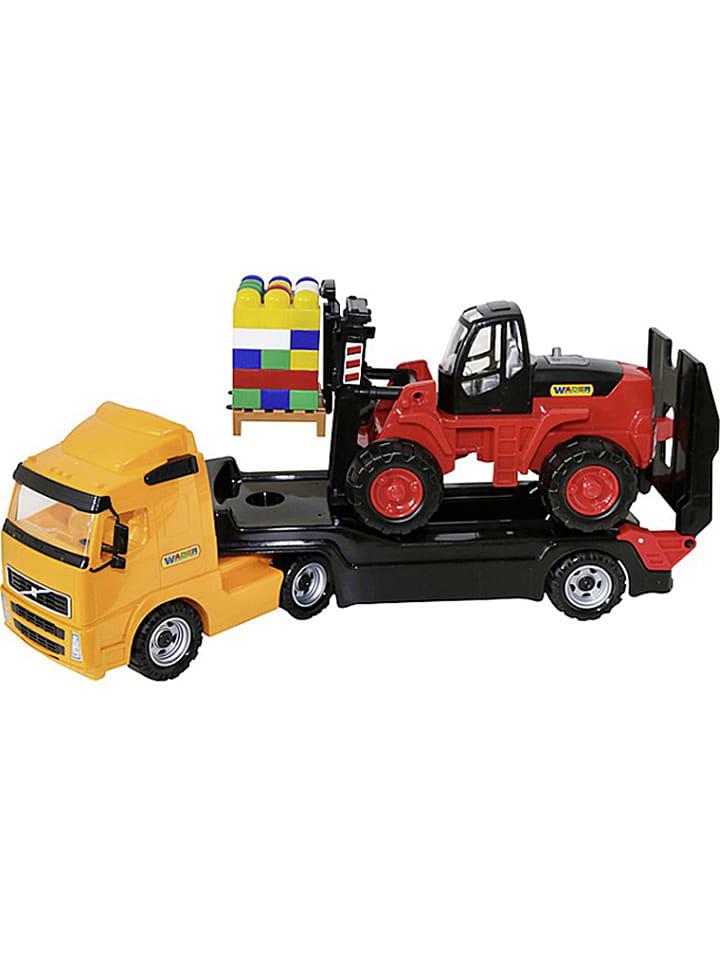 """WADER Quality Toys Tieflader """"Power Truck"""" mit Zubehör - ab 12 Monaten"""